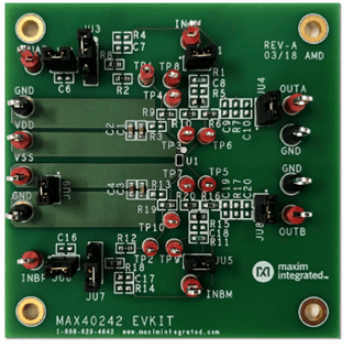 Based on Maxim MAX40242 low noise dual op amp solution